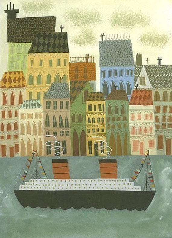 Arriving in Stockholm. 11x14 limited edition print by Matte Stephens.