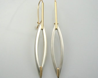 14k gold sterling silver earrings