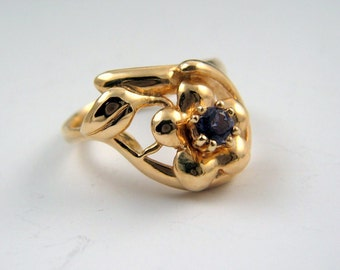 14k gold  ring with stone of your choice