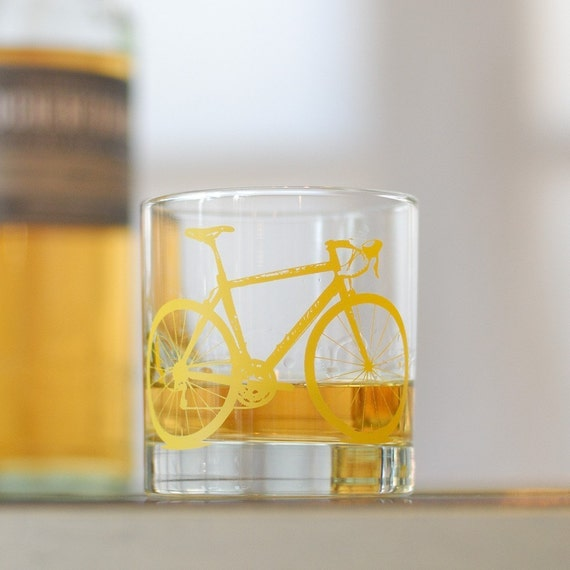 4 bike rocks glasses, yellow bicycle