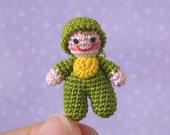 PDF PATTERN - Amigurumi Micro Crochet Tutorial Pattern Miniature Itty Bitty Baby Doll