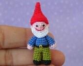 PDF PATTERN - Amigurumi Crochet Tutorial Pattern Miniature Garden Gnome