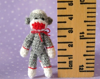 PDF PATTERN - Amigurumi Crochet Tutorial Pattern Miniature Punch Sock Monkey