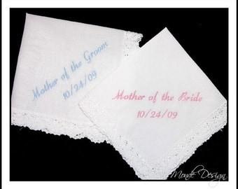 RUSH Wedding  Hankies, Mothers' Set