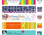 Custom Shop Banner for Etsy, ArtFire, Madeit, Zibbet, Folksy, Craft Cafe and more