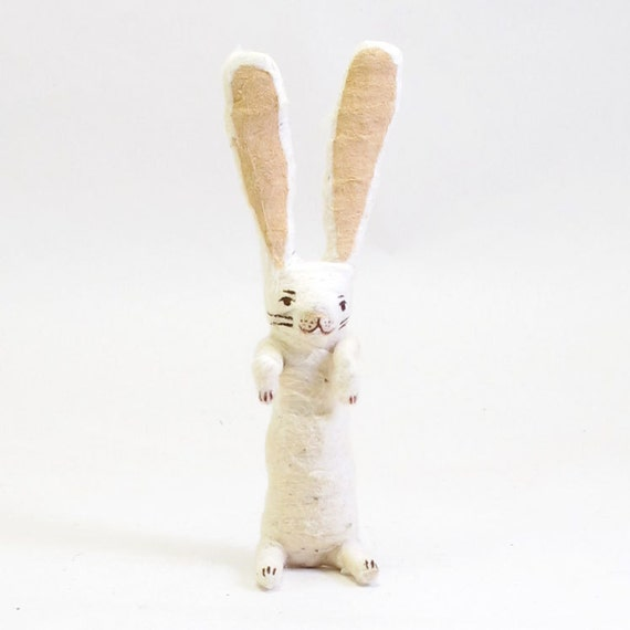 Spun Cotton Vintage Begging Bunny