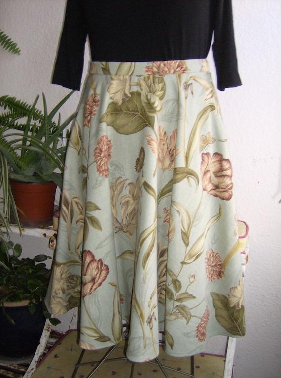 Floral Swing Skirt, 50's Style Skirt, Retro Swing Skirt, Rockabilly Style