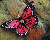 Evil Butterfly Peach Hair Clip