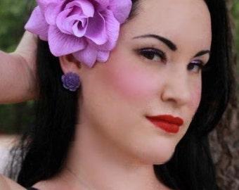 Light Purple Rose Hair Clip
