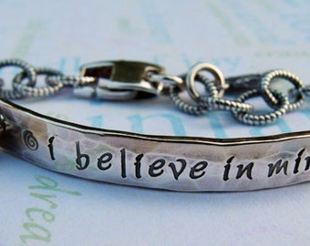 Personalized 925 Sterling Silver Jewelry. Custom Charm Bracelet with Moonstone.