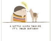 Birthday Card - Little Llama