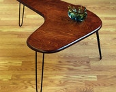 Boomerang  coffee table maply Ply  Mid Century Modern Design.