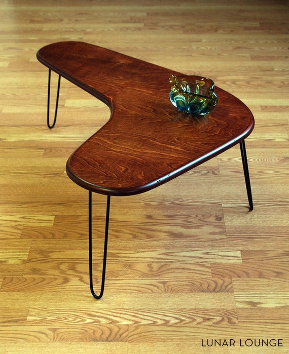 Boomerang Coffee Table Maply Ply Mid Century Modern Design