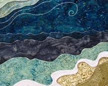 She felt small but Alive, ocean beach waves, big sky, dreamer sea,  Archival Reproduction Print 8.5 x 11