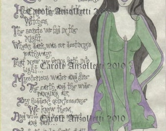 Witch's Creed Set of 4 Parchment Book of Shadows Pages
