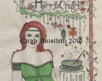 Herb Craft Book of Shadows Parchment Art Print Separator