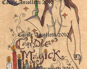 Candle Magick Book of Shadows Parchment Art Print Separator