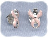 Guardian Angel/Swarovski Crystal Pink Breast Cancer Awareness Ribbon Pins - Raising Money to Find a Cure!! (2, 5, or 10 pins)