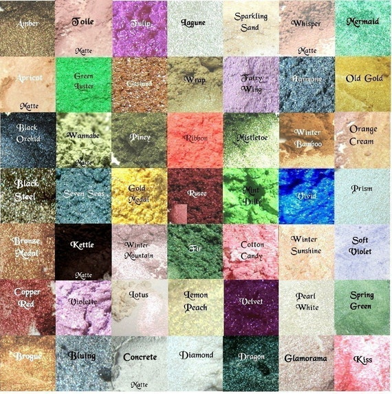 Large Eye Shadow Choose Your Color 161 Choices Mineral Makeup Eyeshadow