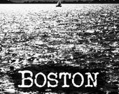 Boston Skyline Print- 5x7- Boston photography