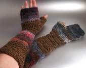 Woodland Fae - Crochet Fingerless Gloves