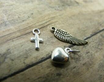 add a charm-heart-cross-angel wing