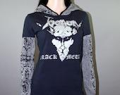 Venom Snake Pullover Hoodie Black Metal Top