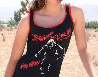 Return Of The Living Dead Zombie Tarman Ruffle Horror Movie Tank Top