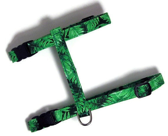 Cat Harness - Rainforest Ferns - Cute, Soft and Fancy for Cats and Kittens