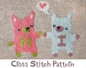 Hi Bears INSTANT DOWNLOAD PDF cross stitch pattern