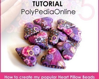 Polymer clay tutorial, Millefiori canes, Millefiore tutorial, HEART beads, polymer clay beads with pattern, Heart pillow beads | PDF | Vol 5