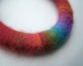 Wooly rainbow wrapped bangle - 100% donation to Gateway for Cancer Research