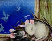 Mice in a Nest Childrens Book Illustration by Melody Lea Lamb