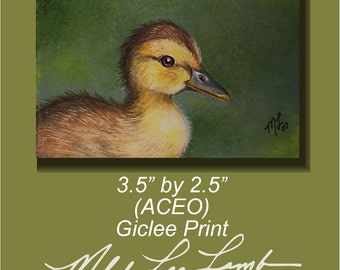 Baby Duckling Art ACEO Giclee Print by Melody Lea Lamb #9