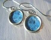 Sterling Silver and Fish Leather Christian Earrings - Red, Teal, Brown, Yellow, Fuschia, Blue, or Charcoal - HOOKED on JESUS Collection