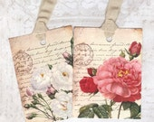 Gift Tags , Love Letters and Roses -  Paris -  by Bluebird Lane