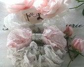 Seam Binding -  18 YARDS. - Wedding Day -  Griege  - Blush  - Pink -  White - Crinkle Ribbon