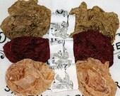 Crinkled Ribbon , Seam Binding , FALLING LEAVES , 18 yards ,  Dark Wine , Maroon , Browns , Scrapbooking
