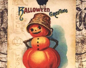 Halloween Tags Vintage Pumpkin  by Bluebird Lane