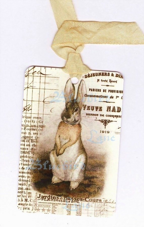 Tags , Peter Rabbit  -  Rabbit Gift Tags -  French  Gift Tags  -  by Bluebird Lane