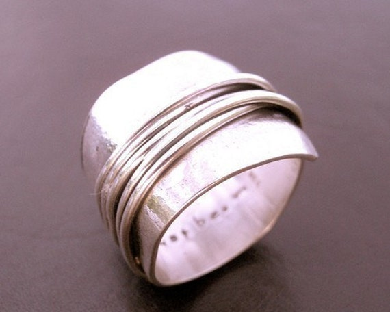 Destiny Wrapped Wide Band in Sterling Silver