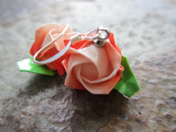Origami Rose Earrings