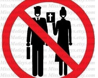 No religious solicitation sign do not disturb placard