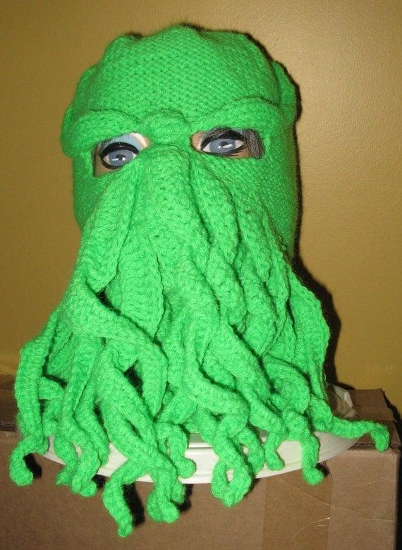 Ski Mask Knitting Pattern : PATTERN Cthulhu Ski Mask Pattern Knit and by n2Imaginations