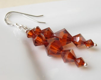 SALE Torch Swarovski crystal earrings