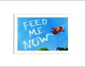 "Evie Anderson Corgi Art SIGNED, MATTED PRINT ""Take A Hint""  Pembroke Welsh Corgis Dog"