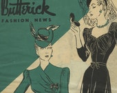 Butterick Fashion News sewing pattern booklet Feb. 1941 in PDF