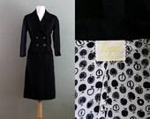 40s XS/S Black Four Button Vogue Suit DRESS