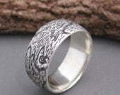 woodgrain ring BIRDSEYE MAPLE sterling Made To Order