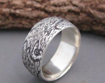 woodgrain ring BIRDSEYE MAPLE sterling size 8